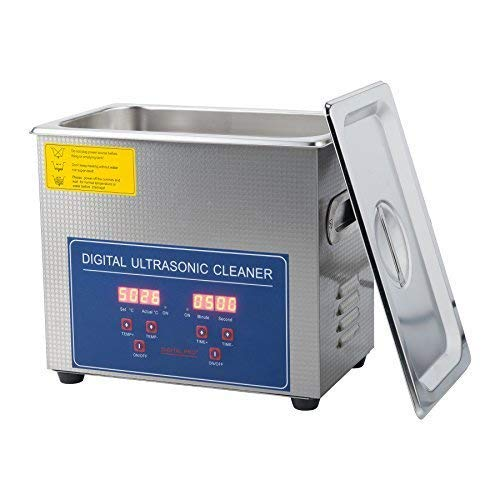 3L Ultrasonic Cleaner with Digital Timer & Heater, Professional Ultrasound Jewelry Cleaning Machine for Parts Denture Ring Watch