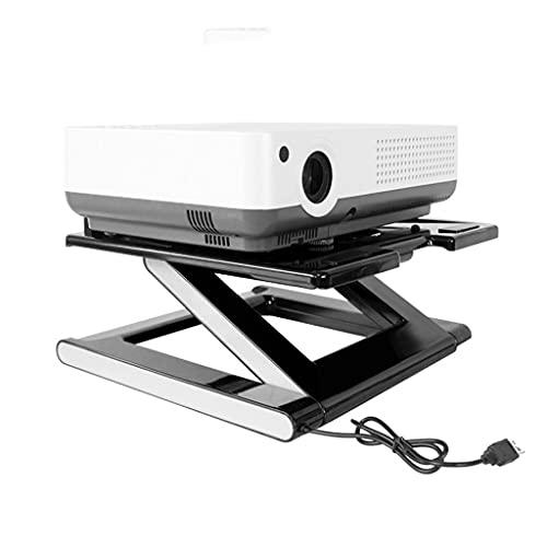 DAGCOT Soportes para proyectores Proyector de Escritorio Soporte Plegable Proyector Soporte Medio Montado Silent Ventilador Ligero Ligero Portátil Portátil Estante Multifuncional Stand Accesorios