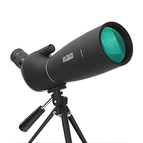 Smileyshy Spektiv Monocular Telescope 25-75x70 High-Definition-Nachtsichtobjektiv für schwaches Licht Astronomischer Außenspiegel