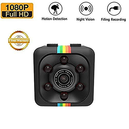 Mini Kamera SQ11 Kamera HD Camcorder SQ8 SQ9 Upgrade Nachtsicht Mini Cam 1080 P Sport Mini DV Voice Video Recorder (Schwarz)