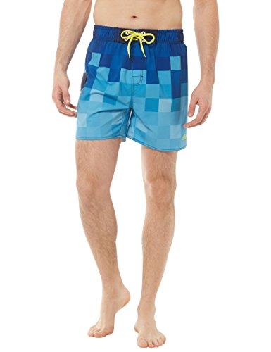 Ultrasport Endurance Cruz Concord Printed Short de bain Homme, Vrai Bleu, Large