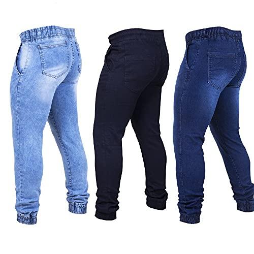Kit 3 Calças Jeans Masculina Jogger Tendencia