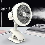 OMGPFR Portátil Mini Ventilador, USB Ventilador de Escritorio Personal Ventilador de nebulización de Escritorio con Niebla refrescante Humidificador para Estudiante Casa Oficina y Viajes,Blanco