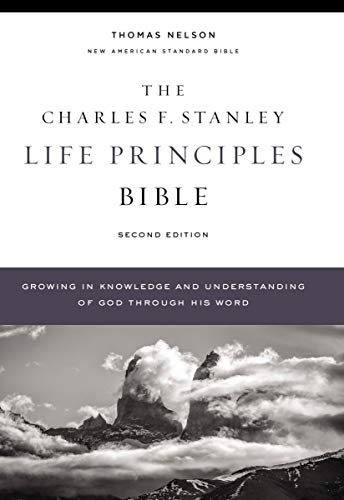 Compare Textbook Prices for NASB, Charles F. Stanley Life Principles Bible, , Hardcover, Comfort Print: Holy Bible, New American Standard Bible Second Edition ISBN 9780785225645 by Thomas Nelson,Stanley, Charles F.