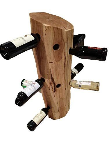 Großer Weinständer aus massivem Ostertaler Holz