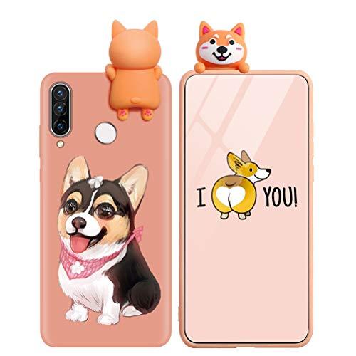 Yoedge Funda para Huawei P10 Lite, Silicona Cárcasa 3D Animal Muñecas Toy con Dibujos Antigolpes de Diseño Suave TPU Ultrafina Case Cover Fundas Movil para Huawei P10 Lite 5,2, Perro 2
