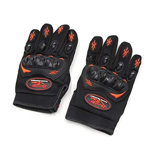 Par de guantes de carrera, talla L, universal, antideslizantes, con hebilla, color negro