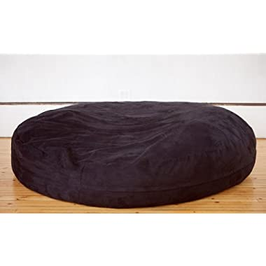 Jaxx 6 Foot Cocoon - Large Bean Bag Chair for Adults, Black