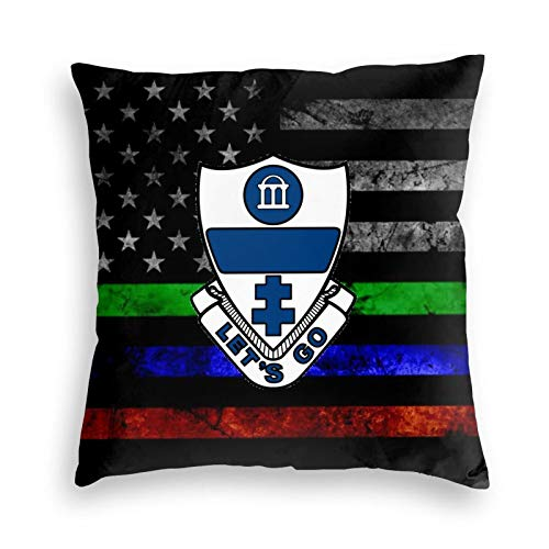 EROOU8W 325th Infantry Regiment Glider Infantry 18 X 18 Inch,Home Decorative Throw Pillow Cover USA Flag Burlap Cotton Linen Cushion for Couch/Sofa/Bedroom/Livingroom/Office/Car Square Pillow Case