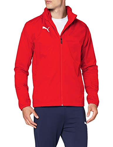 PUMA Herren Liga Training Rain Jacket Core Red White, M