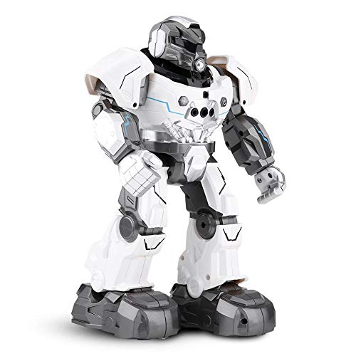 Dilwe RC Roboter Spielzeug, Geste Sensor intelligente Auto-Follow Smartwatch Roboter Singen tanzen pädagogisches Spielzeug Geschenk für Kinder(Weiß)
