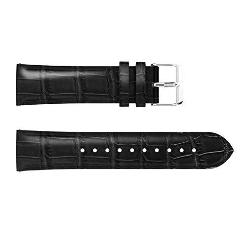 CMXXFA Correa de reloj para Huawei Watch GT2 de 42 mm y 46 mm de repuesto para Samsung Galaxy Watch de 46 mm (color de la correa: negro, ancho de la correa: GT 2 46 mm)