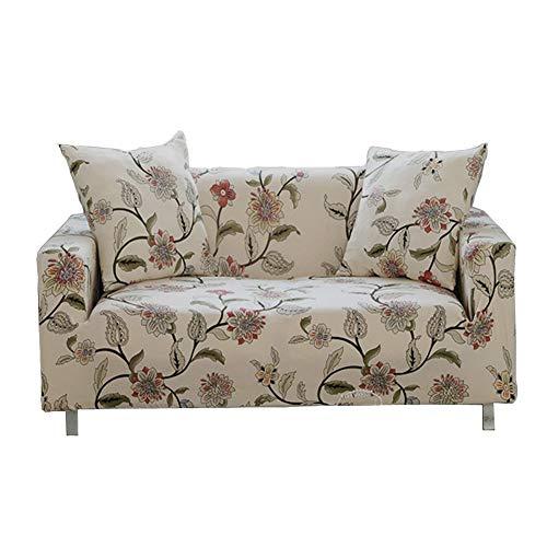 Sofa-Schonbezug, elastischer Stoff, einteilig, Blumen-/Vogelmuster, Hundeschutzbezug für Couch, Stuhl, Sofa und Sessel, 1 Stück, Blumenranke, 2-Sitzer