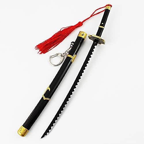 Llavero De Espada One Piece Para Roronoa Zoro, Modelo De Arma De Anime, Juguetes Cos De AleacióN De Zinc (Longitud: 23 Cm)