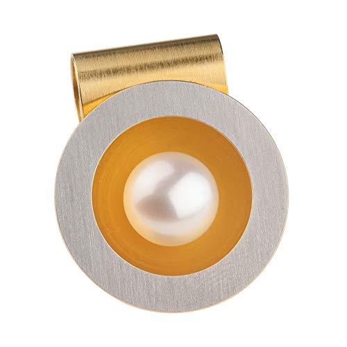 Ernstes Design Edvita Anhänger AN170 Edelstahl Perlen teilvergoldet Wechselhülse