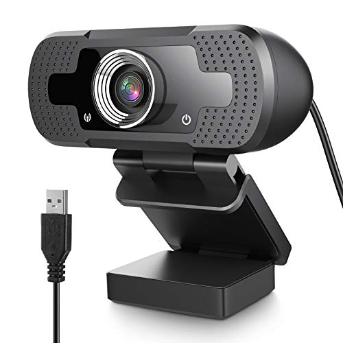 USB Webcam 1080P with Full HD Microphone PC Camera Desktop Streaming Webcam for Recording, Zoom, YouTube, Skype, Video Calls, Studio, Conference, Supports Windows, Android, Linux-Black (1080P)