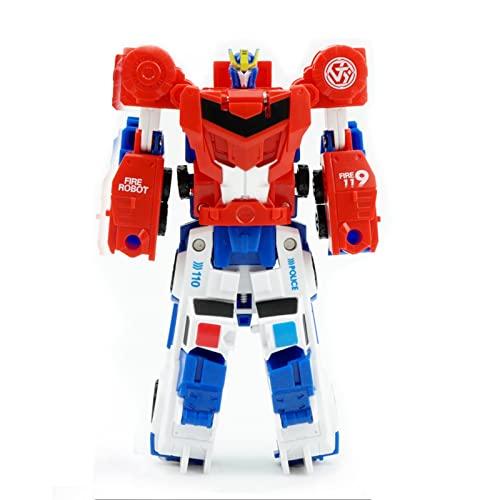 ZHJNBY Transformer Juguete Figura de Acción Optimus Prime Versión KO, Cambios en Camión de Juguete, 4. 6 Pulgadas