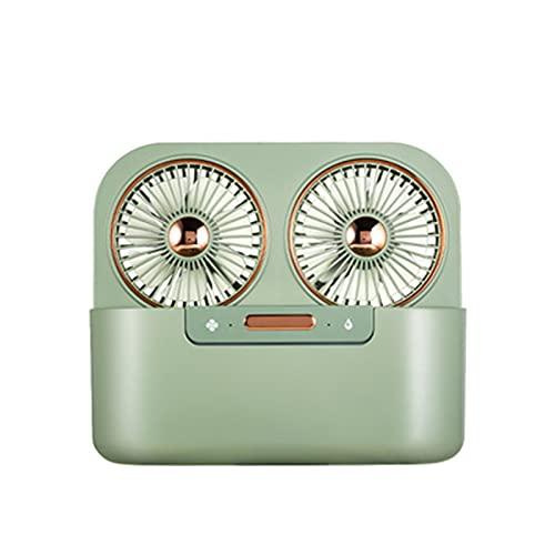 GJYY Ventilador De Escritorio USB con Cuchillas Dobles Y Función De Humidificación De Doble Pulverización, Mini Ventilador De Escritorio Personal con Configuración De Viento Fuerte De 3