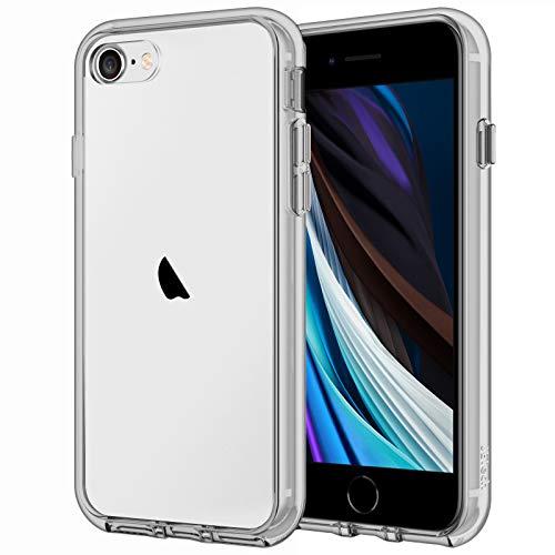 JETech Cover Compatibile iPhone SE 2020/8 / 7, Custodia con Paraurti Assorbimento degli Urti e Anti-Graffio, Grigio