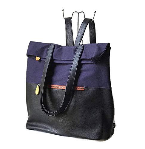 Navy Black Vegan Convertible Backpack Purse, ETSY DESIGN AWARD FINALIST!