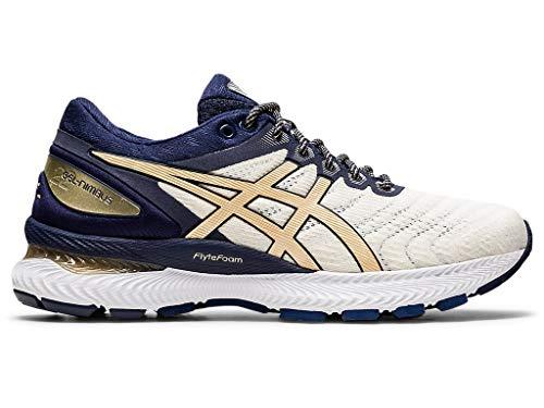 Zapatillas de correr Asics Gel-Nimbus 22 (D) para mujer, Blanco (Blanco/Champaña), 43.5 EU