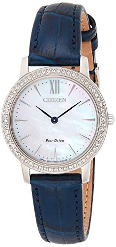 Citizen Damen Analog Quarz Uhr mit Leder Armband EX1480-15D
