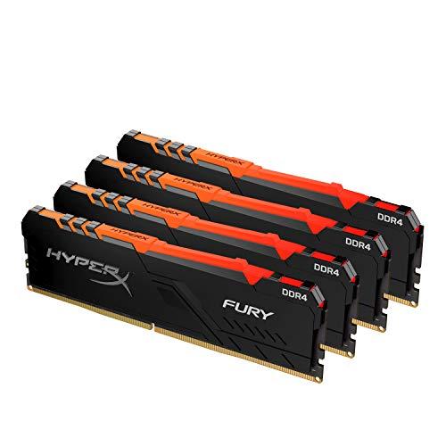HyperX Fury RGB HX432C16FB4AK4/64 Memoria RAM 64GB Kit*(4x16GB) 3200MHz DDR4 CL16 DIMM