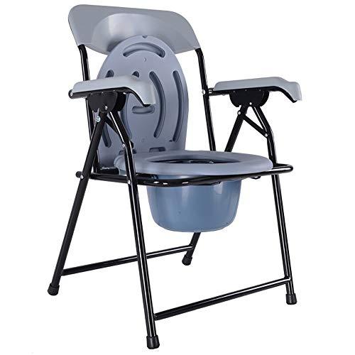 MU Haushalt Nachttoilette/Badestuhl/Toilettenstuhl/Toilettenstuhl Stahlrohr Leicht Faltbar Anwendbar für ältere Menschen, Behinderte, Schwangere