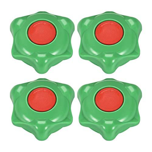 sourcing map - Manguera de plástico exterior para grifo, mango redondo, 6 x 6 mm, rueda OD 60 mm, ABS verde y rojo 4 piezas