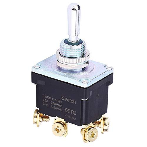 Interruptor de palanca DPDT 15A para maquinaria alimentaria