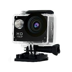 """Yuntab A9 Kamera Action Full HD 1080p Kamera Wasserdicht 2.0"""" LCD 120° Objektiv DVR Outdoor Action Camera Sport Kamera Tauchen und Kostenlosen Zubehör (A9N, Schwarz)"""