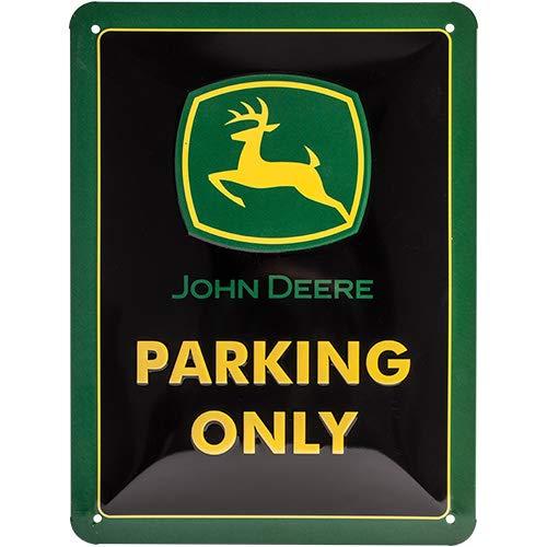 Nostalgic-Art Cartel de Chapa Retro John Deere – Parking Only – Idea de Regalo para los Fans de los Tractores, metálico, Diseño Vintage, 15 x 20 cm