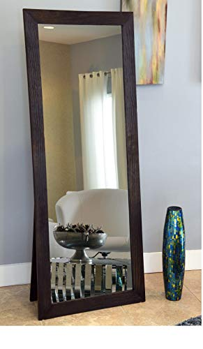 Naomi Home Freestanding Cheval Floor Mirror Espresso