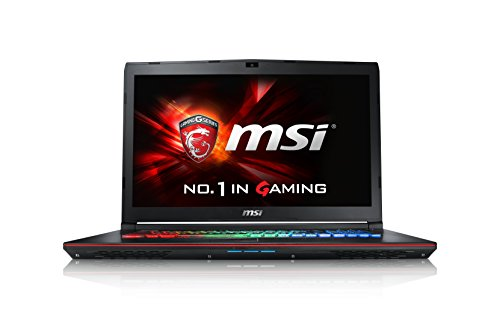 MSI GE72-6QF16H21 43,9 cm (17,3 Zoll) Notebook (Intel Core i7 -6700HQ (Skylake), 16GB DDR4 RAM, 1TB HDD, 256GB SSD, NVIDIA Geforce GTX 970M, Win 10 Home) schwarz