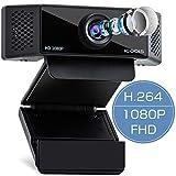 iCODIS ウェブカメラ CA3 高画質 フルHD 1080P 200万画素 30FPS H.264圧縮技術 Webカメラ PCカメラ 内蔵マイク 小型 ブラック