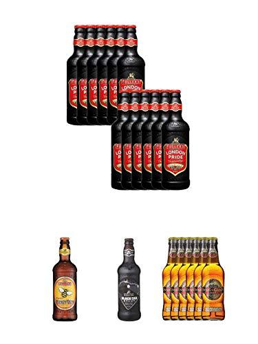 Fuller`s London Pride Bier 12 x 0,5 Liter + Fuller's London Honey Dew Bier 0,5 Liter + Fuller's London Black Cab Stout Bier 0,5 Liter + Innis & Gunn Original Bier 6 x 0,33 Liter