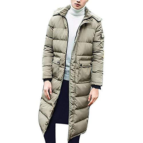 Zolimx Warme Dicke Parka Paar Baumwollkleidung Lange lose Baumwollemantel Jacke Mantel Gepolsterten Brötchenservice Dünnejacke Kapuzen Outwear