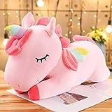 25-100cm tamaño Gigante Unicornio de Peluche de Juguete Suave de Dibujos Animados Unicornio muñecas Animal Caballo muñeco de Peluche Regalo de cumpleaños 80cm Rosa