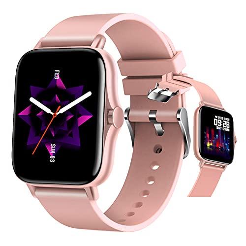 BNMY Smartwatch Relojes Inteligente con Pantalla Táctil De 1.69' Reloj Deportivo para Hombre Mujer Niños, Monitor De Sueño Pulsómetro Podómetro Modos Deportivos, Impermeable IP67,Rosado