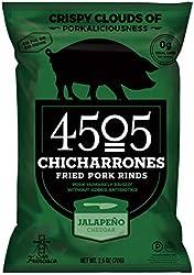4505 Meats, Chicharrones Fried Pork Rinds, Jalapeno Cheddar, 2.5 Ounce