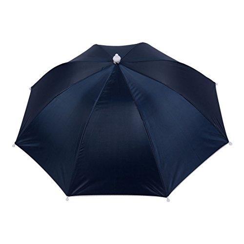 sourcing map Angeln elastisch Kopfband Regenschirm Regenhut Schirmhut Sonnenschirm Kappe Hut