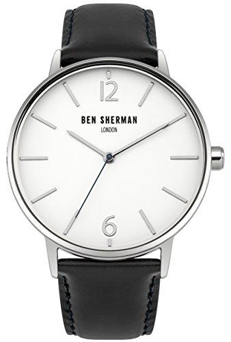 Ben Sherman Hombres Reloj De Cuarzo con Esfera Analógica Blanca y Correa de Piel Dos Tonos wb059bu