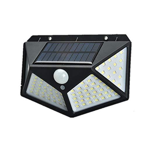 100 Led 1200 Mah Luces solares Luces de sensor de movimiento con energía solar para exteriores Luz de pared impermeable al aire libre Luz de noche Iluminación LED de 4 lados incorporada Iluminación
