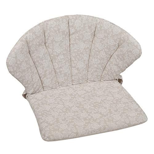 OUTLIV. Polsterauflage Elegance Royal Garden Niederlehner Auflage 75x48 cm Sitz- Rückenkissen Beige geblühmt Sitzauflage für Gartensessel und Gartenstuhl