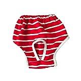 Pañales para Perros, Pantalones fisiológicos para Perros, Ropa Interior Menstrual, Pantalones de higiene para Perros, cómodos, Lavables y Reutilizables (Color : Red, Size : Large)