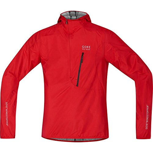 GORE BIKE WEAR Herren Rescue-Fahrrad-Jacke, Super Leicht, Kompakt, GORE WINDSTOPPER, RESCUE WS AS Light Jacket, Größe: XL, Rot, JGRESC