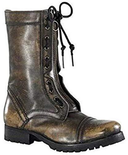 xyxyx - Stiefel Stiefelette aus Leder in Braun Gr. 36