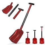 Aluminum Garden Shovel 3 Piece Collapsible Design 21'-32' Adjustable Portable Gardening Digging Shovel Beach Sand Shovel Outdoor Sport Utility Survival Shovel for Emergency Camping Hiking Backpacking