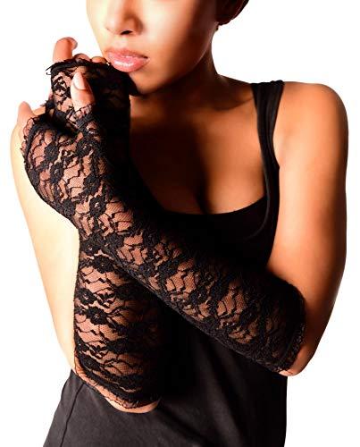 Arunta® Damen Stulpen Armstulpen aus Spitze in Schwarz