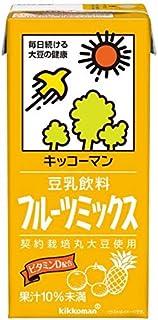 Kibun paquete de bebida de leche de soja fruta mezcla de papel 1000ml X12 (6X2